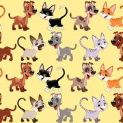 Stock Illustration of Funny cats and dogs with background