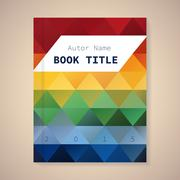Vector template for book title Stock Illustration