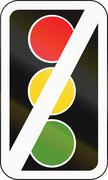Road sign in Pakistan - Traffic signals out of order. Stock Illustration