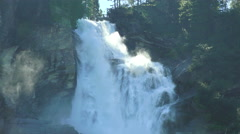 View of waterfall krimml austria  Stock Footage