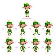 Stock Illustration of Animation of Dwarf walking.