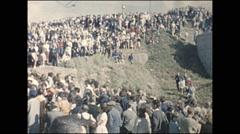 Vintage 16mm film, 1960, France, Morlaix, pardon ceremony #1 Stock Footage