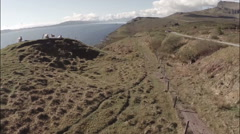 Aerial shot from the Isle of Skye in Scotland Stock Footage