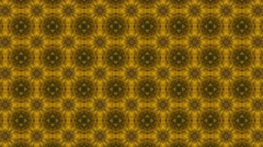 Stock Video Footage of Abstract yellow kaleidoscope with flowery shade or shape