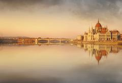 Stock Photo of View of hungarian Parliament building, Budapest