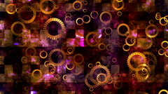 Broadcast Spinning Hi-Tech Rings, Multi Color, Abstract, Loopable, HD Stock Footage