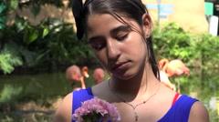 Stock Video Footage of Sad Teen Girl Outdoors