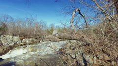 Small outlet at Great Falls on the Maryland side Stock Footage