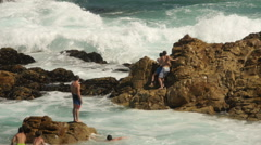 The Point, Mossel Bay, South Africa Stock Footage