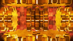 Broadcast Spinning Hi-Tech Gears, Golden, Abstract, Loopable, HD Stock Footage