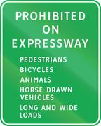 Stock Illustration of Road sign in the Philippines - Prohibited on Expressway