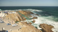 Mossel bay - the Point- Ocean Stock Footage