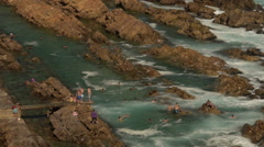 Mossel bay - the Point. Stock Footage