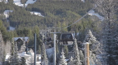 Whistler Village - Blackcomb Upper Village Gondola Stock Footage
