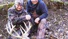 Whitetail Deer Hunters Stock Footage