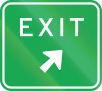 Stock Illustration of Road sign in the Philippines - Expressway Exit Direction Sign