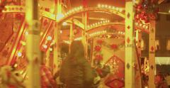 Riding the Carousel at the local fair Stock Footage