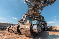 Stock Photo of Large excavator machine in the mine