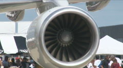 Rolls-Royce RB211 engine on a Boeing 757 Stock Footage