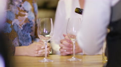 4K 2 Attractive women enjoying a taster session in specialist wine shop Stock Footage