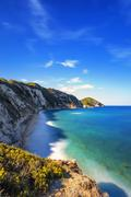 Elba island, Portoferraio Sansone white beach coast. Tuscany, Italy. Stock Photos