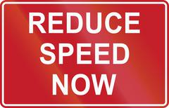Road sign in the Philippines - Reduce Speed Now Stock Illustration