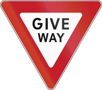 Stock Illustration of Road sign in the Philippines - Give Way