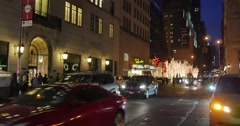 4K, Christmass decorations on 5 Ave, Manhatten Stock Footage