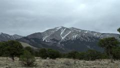 Storm Clouds over Blanca Peak 4K Stock Footage