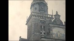 Vintage 16mm film, 1960, Netherlands, mystery city Stock Footage