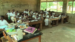ADEISO STUDENTS IN CLASSROOM3 Stock Footage