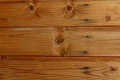 Lacquered old pine boards background. Stock Photos
