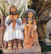 Stock Photo of three person Peruvian nativity scene with baby Jesus St Joseph and santa mari