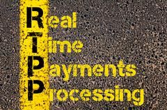 Accounting Business Acronym RTPP Real Time Payments Processing Stock Photos