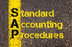 Accounting Business Acronym SAP Standard Accounting Procedures Stock Photos