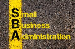 Stock Photo of Accounting Business Acronym SBA Small Business Administration