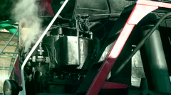 Retro train. The steam from the engine - stock footage