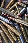 Ammunition for firearms Stock Photos