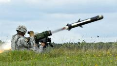 M98 Javelin Missile Rocket Launch-in 4K (3840x2160) - stock footage