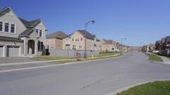 Stock Video Footage of Suburban Home. Custom home exterior