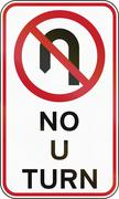 Stock Illustration of Road sign in the Philippines - No U Turn