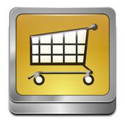 Shopping Button Stock Illustration