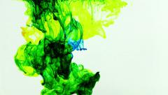 Abstract Ink Paint Art Blend Colorful Splash in Underwater - stock footage
