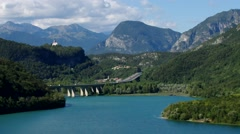 Lago di Cavazzo in Alps - stock footage