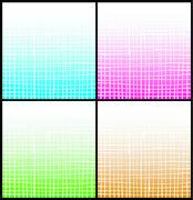 gradient white stripe grid pattern over multiple color - stock illustration