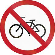 Road sign in the Philippines - No Entry for Bicycles - stock illustration