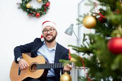 Christmas song Stock Photos