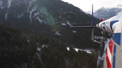 Helicopter back view - stock footage