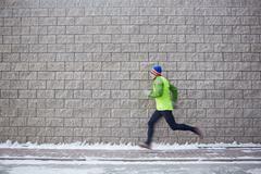 Sportsman running - stock photo