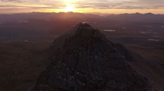 Dramatic aerial shot of An Teallach near Ullapool Stock Footage
